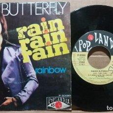 Discos de vinilo: SIMON BUTTERFLY / RAIN RAIN RAIN / SINGLE 7 INCH. Lote 220567315