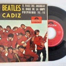 Discos de vinilo: LOS BEATLES DE CADIZ EL BAILE DEL AMARGAO. Lote 220576982
