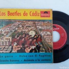Discos de vinilo: LOS BEATLES DE CADIZ LA GARRA EP. Lote 220577341