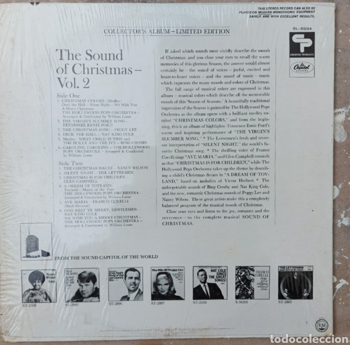 Discos de vinilo: Lp The sound of the christmas. Vol II - Foto 2 - 220578628