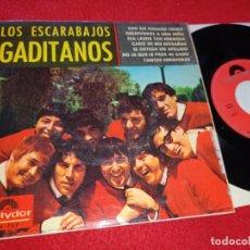 Discos de vinilo: LOS ESCARABAJOS GADITANOS CON ESE PEINADO TENGO/CADIZ DE MIS ENTRAÑAS +++ EP 1965 POLYDOR BEATLES. Lote 220585026