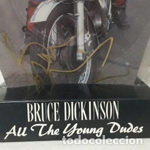 Discos de vinilo: Disco de vinilo All The Young Dudes firmado por bruce dickinson vocalista de iron maiden - Foto 2 - 220597661
