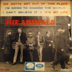 Discos de vinilo: THE ANIMALS: WE GOTTA GET OUT OF THIS PLACE + 3 EMI 1965 ED ESPAÑA. Lote 220602420