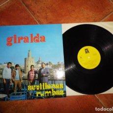 Discos de vinilo: GIRALDA SEVILLANAS Y RUMBAS LP VINILO DEL AÑO 1983 CONTIENE 10 TEMAS. Lote 220611441