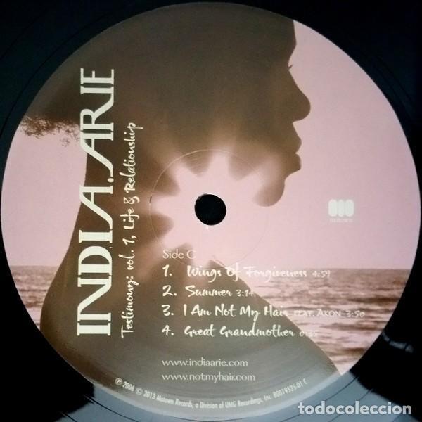 Discos de vinilo: India.Arie * 2LP Testimony: Vol. 1, Life & Relationship * Rare * Gatefold * Precintado!! - Foto 6 - 220613785