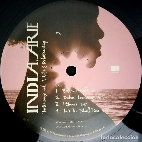 Discos de vinilo: India.Arie * 2LP Testimony: Vol. 1, Life & Relationship * Rare * Gatefold * Precintado!! - Foto 8 - 220613785