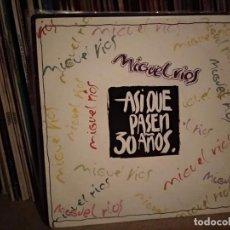 Disques de vinyle: MIGUEL RIOS ASI QUE PASEN 30 AÑOS SINGLE 7'' 1993 POLYDOR PROMO DOBLE CARA EDICION ESPAÑOLA SPAIN. Lote 220627365
