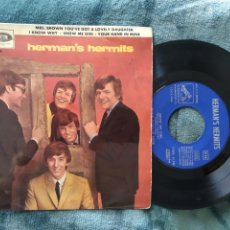 Discos de vinilo: HERMAN'S HERMITS SHOW ME GIRL MRS.BROWN 1965. Lote 220634528