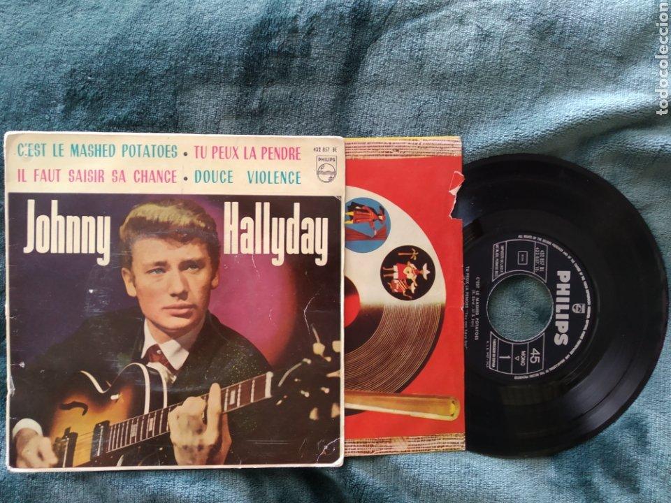 JOHNNY HALLYDAY C'EST LE MASHED POTATOES. 1963 (Música - Discos de Vinilo - Maxi Singles - Pop - Rock Extranjero de los 50 y 60)