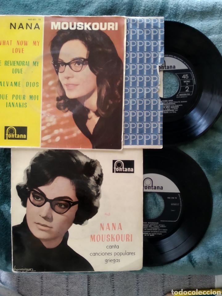 DOS VINILOS DE NANA MOUSKOURI CANTA CANCIONES POPULARES GRIEGAS (I960) WHAT I KNOW MY LOVE (1962) (Música - Discos de Vinilo - Maxi Singles - Pop - Rock Extranjero de los 50 y 60)