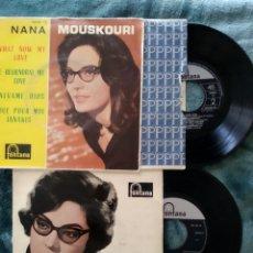 Discos de vinilo: DOS VINILOS DE NANA MOUSKOURI CANTA CANCIONES POPULARES GRIEGAS (I960) WHAT I KNOW MY LOVE (1962). Lote 220635398