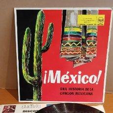 Discos de vinilo: MÉXICO / UNA HISTORIA DE LA CANCIÓN MEXICANA / LP - RCA-1961 / MBC. ***/***. Lote 220643707