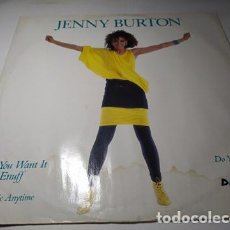 Discos de vinilo: MAXI - JENNY BURTON ?– DO YOU WANT IT BAD ENUFF - A9343 T ( VG+ / G+) UK 1986. Lote 220645280