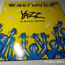 Discos de vinilo: MAXI - YAZZ AND THE PLASTIC POPULATION ?– THE ONLY WAY IS UP - CCUT 1228 ( VG+ / VG+) BELGIUM 1988. Lote 220646997