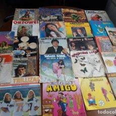 Discos de vinilo: LOTE 23 SINGLES- HUMOR -IE INFANTIL-( PAJARES,MARTES Y 13,ORZOWEI,TARZAN,TELEÑECOS ALGUNOS DIFICILES. Lote 220647417