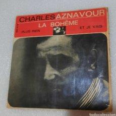 Discos de vinilo: CHARLES AZNAVOUR- LA BOHEME + 2. Lote 289351663