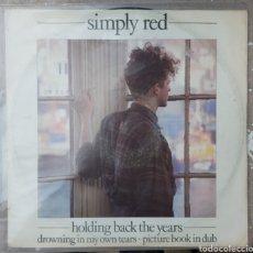 Discos de vinilo: MAXI SINGLE - HOLDING BACK THE YEARS. Lote 220664931
