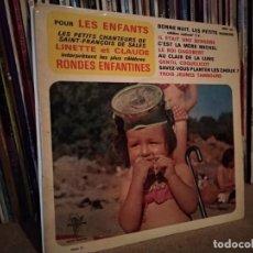 Discos de vinilo: RONDES ENFANTINES - LES PETITS CHANTEURS DE SAINT FRANCOIS. Lote 220665488