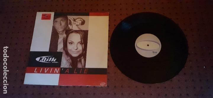 MILK INC. - LIVIN A LIE - MAXI - SPAIN - CYBER MUSIC - REF VLMX 450-3 - LV - (Música - Discos de Vinilo - Maxi Singles - Techno, Trance y House)