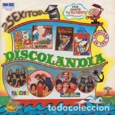 Discos de vinilo: DISCOLANDIA (PARCHIS / GRUPO NINS / LOS PAYASOS DE LA TELE ...ETC) DOBLE LP SPAIN 1980. Lote 220687000