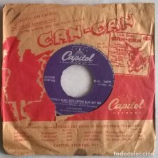Discos de vinilo: LES BAXTER. GIANT/ THERE'S NEVER BEEN ANYONE ELSE BUT YOU. CAPITOL, UK 1957 SINGLE. Lote 220697433