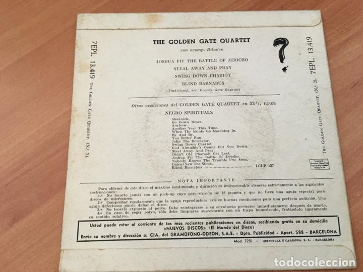 Discos de vinilo: THE GOLDEN GATE QUARTET (JOSHUA FIT THE BATTLE OF JERICHO +3 ) EP ESPAÑA 1960 (EPI19) - Foto 3 - 220702131