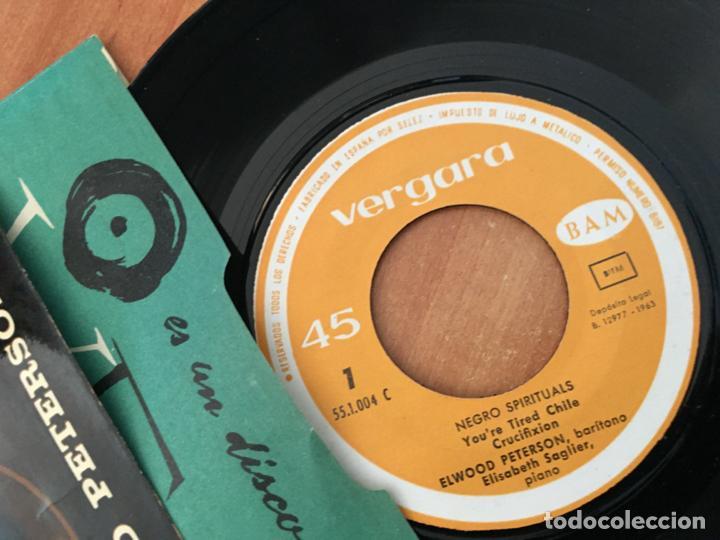 Discos de vinilo: ELWOOD PETERSON NEGRO SPIRITUALS (YOURE TIRED CHILE +3 ) EP ESPAÑA 1960 (EPI19) - Foto 2 - 220702271