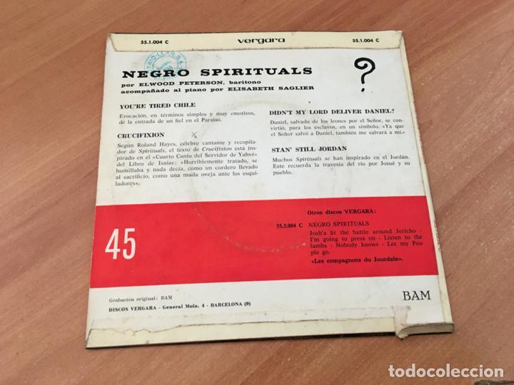 Discos de vinilo: ELWOOD PETERSON NEGRO SPIRITUALS (YOURE TIRED CHILE +3 ) EP ESPAÑA 1960 (EPI19) - Foto 3 - 220702271