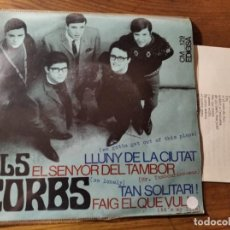 Discos de vinilo: ELS CORBS - LLUNY DE LA CIUTAT + 3 ********* MEGA RARO EP DE 60'S BEAT CATALÀ, GRAN ESTADO!. Lote 220703455