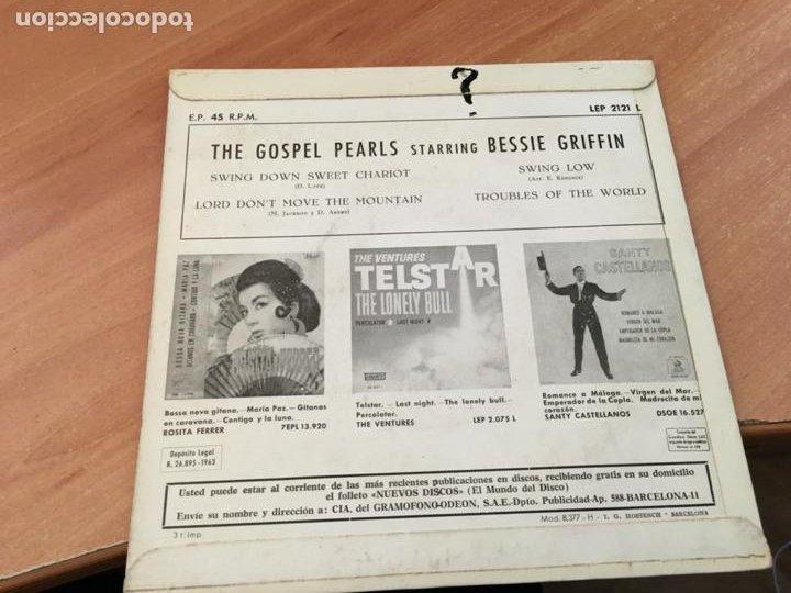 Discos de vinilo: THE GOSPEL PEARLS BESSIE GRIFFIN (SWING DOWN SWEET CHARIOT +3 ) EP ESPAÑA 1960 (EPI19) - Foto 3 - 220703468