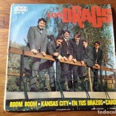 Discos de vinilo: LOS DRACS - BOOM BOOM + 3 *** RARO EP DE 60'S BEAT CATALÀ EN CASTELLANO 1965, ALGO DE RUIDO DE FONDO. Lote 220703686