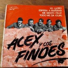Discos de vinilo: ALEX Y LOS FINDES - YO LLORO + 3 ************* SU MÁS RARO EP, VERSIONES ANIMALS Y BEATLES 1966. Lote 220704142