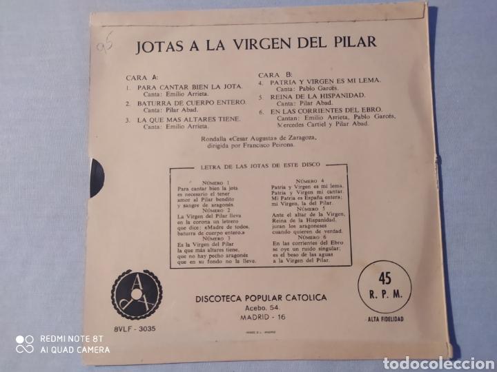 Discos de vinilo: VINILO JOTAS DE LA VIRGEN DEL PILAR - Foto 2 - 220713281