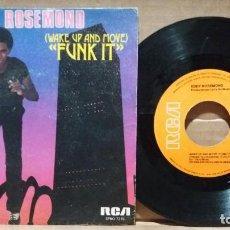 Discos de vinilo: EDDY ROSEMOND / WAKE UP AND MOVE 'FUNK IT' / SINGLE 7 INCH. Lote 220722297