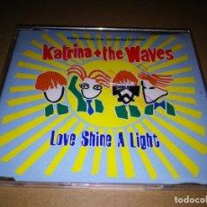 Discos de vinilo: KATRINA THE WAVES LOVE SHINE A LIGHT CD SINGLE TEMA UK FESTIVAL EUROVISION 1997 3 TEMAS. Lote 220723885