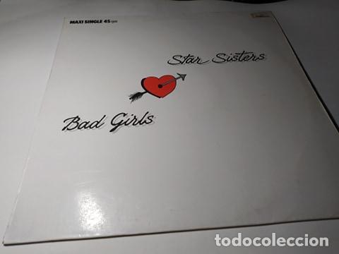 MAXI - THE STAR SISTERS ?– BAD GIRLS - 888 607-1 ( VG+ / VG+) SPAIN 1987 (Música - Discos de Vinilo - Maxi Singles - Disco y Dance)
