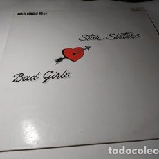 Discos de vinilo: MAXI - THE STAR SISTERS ?– BAD GIRLS - 888 607-1 ( VG+ / VG+) SPAIN 1987. Lote 220735518