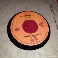 Discos de vinilo: CUARTETO MARANATHA EN UNA FLOR/VENIDO DE LEJOS 7'' SINGLE 1966 MARFER FUNDA MARRON. Lote 220744475