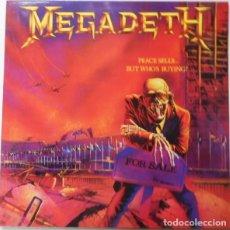 Discos de vinilo: MEGADETH – PEACE SELLS... BUT WHO'S BUYING? - LP REEDICIÓN. Lote 220761891