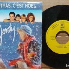 Discos de vinilo: JORDY / IT'S CHRISTMAS, C'EST NOEL / SINGLE 7 INCH. Lote 220767567