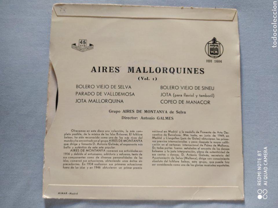 Discos de vinilo: AIRES MALLORQUINES- FIESTA EN MALLORCA- VOL 1.DIRECTOR A. GALMES. HISPAVOX AÑOS 50 - Foto 2 - 220769093