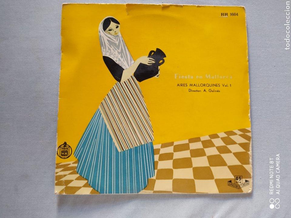 AIRES MALLORQUINES- FIESTA EN MALLORCA- VOL 1.DIRECTOR A. GALMES. HISPAVOX AÑOS 50 (Música - Discos de Vinilo - Maxi Singles - Country y Folk)