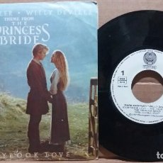 Discos de vinilo: MARK KNOPFLER - WILLY DEVILLE / STORYBOOK LOVE / SINGLE 7 INCH. Lote 220786358
