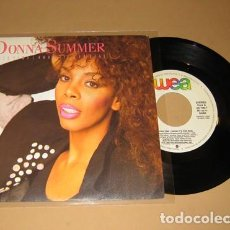 Discos de vinilo: DONNA SUMMER - THIS TIME I KNOW IT'S FOR REAL - SINGLE PROMO - 1989. Lote 220796696