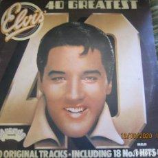 Discos de vinilo: ELVIS PRESLEY - ELVIS 40 ORIGINAL TRACKS DOBLE LP - EDICION INGLESA - ARCADO 1977 GATEFOLD COVER. Lote 220834217