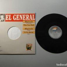 Discos de vinil: 1010- EL GENERAL MAXI SINGLE SPAIN 1992 VIN POR VG + DIS NM. Lote 220834926