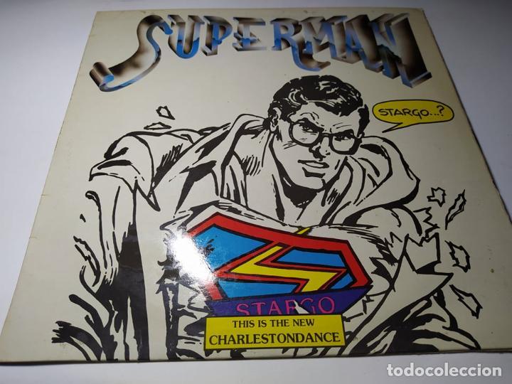 MAXI - STARGO ?– SUPERMAN - 04.2350/8 (VG+ / VG+ ) SPAIN 1985 (Música - Discos de Vinilo - Maxi Singles - Disco y Dance)