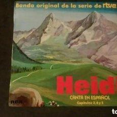 Discos de vinilo: LP-HEIDI CANTA EN ESPAÑOL-CAPÍTULOS 3,4 Y 5-BANDA ORIGINAL DE LA SERIE DE RTVE. Lote 220845393