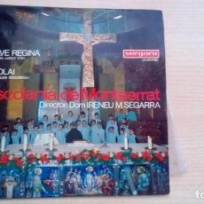 Discos de vinilo: ESCOLANIA DE MONTSERRAT - SALVE REGINA / VIROLAI - EP VERGARA 14004 1967. Lote 220845636