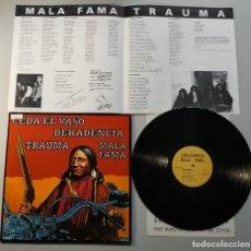 Discos de vinilo: 1010-DEKADENCIA MALA FAMA TRAUMA CEDA AL VASO VARIOS ES 92 LP VIN POR VG+ DIS NM. Lote 220857288